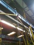 application of strain gauges at crane runway