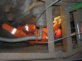 application of strain gauges at blast furnace shell