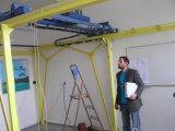 measurement on model of bridge crane